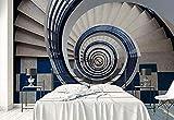 Fotomurales - Murales moderna de Diseno Piso de anclaje de escalera de caracol - construcción- Decoración de Pared decorativos - 200x140cm
