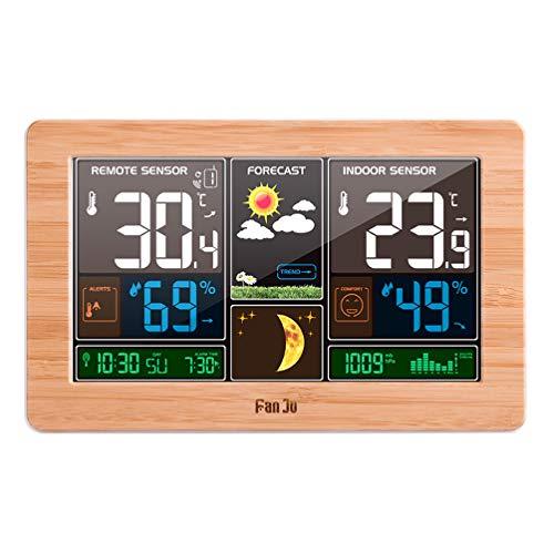 XMAGG® Stazione Meteo Wireless Indoor Temperatura Esterna e SvegliaDigital Alarm Clock Outdoor di umidità di Temperatura Fasi Lunari Orologio Previsio