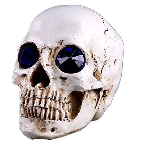 Resina Humana Realista la Cabeza del cráneo de la decoración, la Personalidad simulada de plástico cráneos de Modelo de Juguete Hecho a Mano for Ministerio de Ciencia Juguetes educativos WTZ012