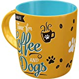 Nostalgic-Art Tazza da caffè retrò, PfotenSchild – Coffee and Dogs – Idea regalo per proprietari di cani, Design vintage, 330 ml, in ceramica
