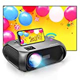 Bomaker WiFi Mini Projector, 100' Outdoor Projector Screen Included, Native 1280x720P Portable Movie Projector, Wireless Mirroring by WiFi / USB Cable, for Video Games, Movies, Camping, TV Stick, PS5