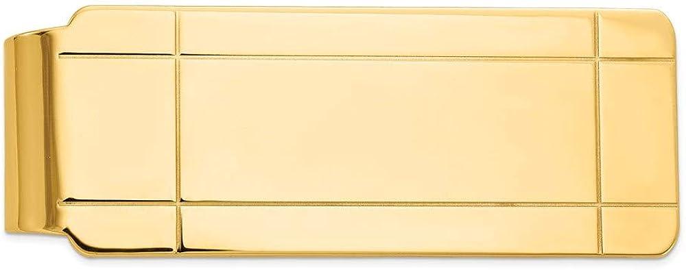 14k Yellow Gold Direct stock discount Clip Money Tucson Mall Men's