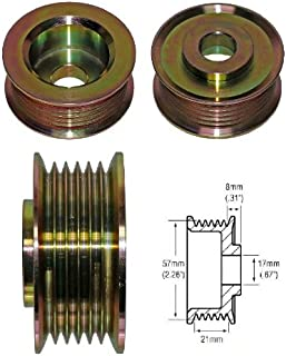 6 groove 57mm Alternator Pulley 021041-7420 - 77909015