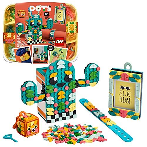 LEGO DOTS Multi Pack - Sensazioni Estive 4 in 1, Kit Creativi per Bambini con Cornice Portafoto, Braccialetto, Portachiavi e Portapenne, 41937