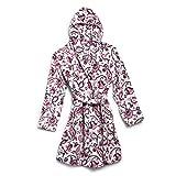 Vera Bradley womens Plush Fleece Robe Loungewear, Felicity Paisley Pink, Small to Medium US