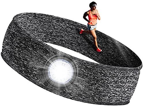 Linterna Frontal Regalos Originales para Hombre - Regalos para Mujer Camping Accesorios Frontal LED Recargable, Amigo Invisible Regalos Linterna Cabeza de Acampada y Marcha, Regalos Navidad Originales