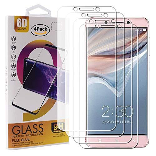 Guran 4 Paquete Cristal Templado Protector de Pantalla para Leeco Le Pro 3 / Le Pro 3 Elite Smartphone 9H Dureza Anti-Ara?azos Alta Definicion Transparente Película