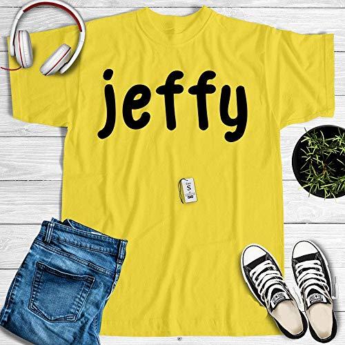 Jeffy Shirt Yellow Funny Halloween Costume Kids Customized Handmade T-Shirt Hoodie_Long Sleeve_Tank Top_Sweatshirt