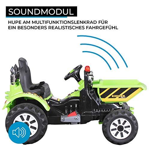 RC Kinderauto kaufen Kinderauto Bild 1: Actionbikes Motors Kinder Radlader JS328C 2 x 25 Watt Motor Elektro Lader Kinderauto Kinderfahrzeug Spielzeug für Kinder Kinderspielzeug (Grün)*