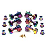 Guitar Tuners Folk-Electric Guitar Full Closure Knobs Colorful Seven Color Gold Quasi-knob Shaft Winding String Winder