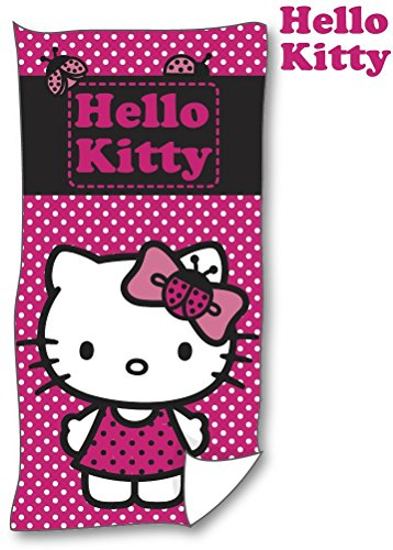 Sanrio Hello Kitty Toalla Toalla TOALLA de playa de playa (140x 70cm) algodón con Certificación Öko-Tex Standard 100