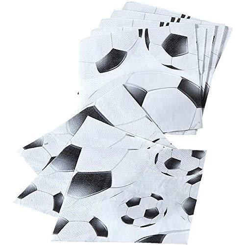 TIB Heyne Servietten Fußball, schwarz/weiß, 20 Stück