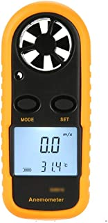 ZJIAWEI Mini Anemometer High Sensitivity Handheld LCD air Volume Meter Digital Weather Meter with Backlight can Measure Breeze Ideal for Windsurfing Flying Sailing Surfing Fishing Surfing