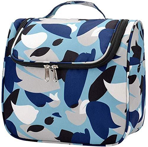 Imprimé bleu Sac cosmétique de stockage, Carré portable de grande capacité sac à poussière Voyage Sac de rangement portable (Color : B)