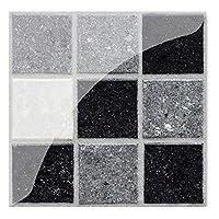 19個のモザイクタイルの壁のステッカーPVCの防水タイルデカール接着剤の壁の家具ステッカーキッチンウィストラインキッチンの装飾 (Color : YCZ008)