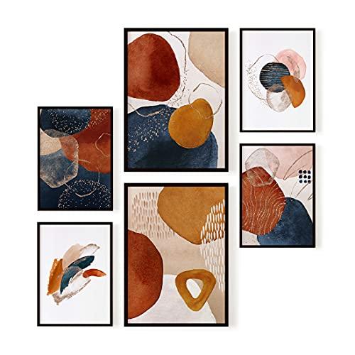 Ohbimba – Laminas Decorativas para Enmarcar (Sin Marco) Posters de Pared para Decoración Salón Moderno, Cuadros Abstractos Habitación Dormitorio Salon – Imágenes Estilo Femenino - Tamaño A3 y A4