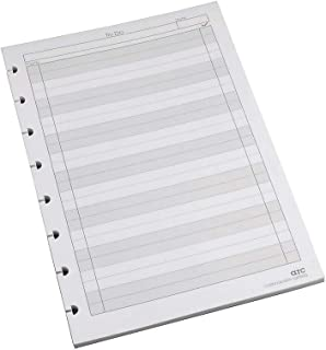 Staples 892347 To-Do Arc Notebook System Refill Paper 5.5-Inch x8.5-Inch 50 Sh. Cornell White