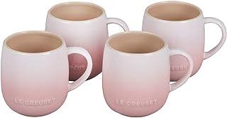 Le Creuset Stoneware Set of 4 Heritage Mugs, 13 oz. each, Shell Pink
