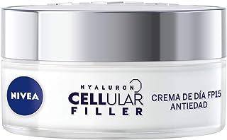 NIVEA Hyaluron Cellular Filler Cuidado de Día FP15 (1 x 50 ml) crema antiarrugas con ácido hialurónico crema antiedad c...
