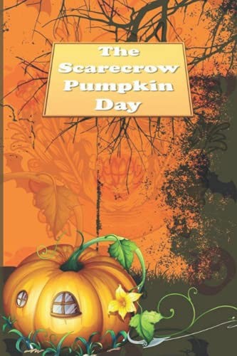 The Scarecrow Pumpkin Day: Halloween Blank Ruled 6 x 9 in 120 Pages Note Book Black Bat Pattern. Primary Hallowen Notebook Collected Work Of Jim Morrison