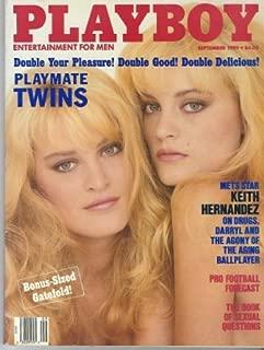 Playboy Magazine Entertainment For Men, September 1989, Playmate Twins Karin And Mirjam Von Breeschooten