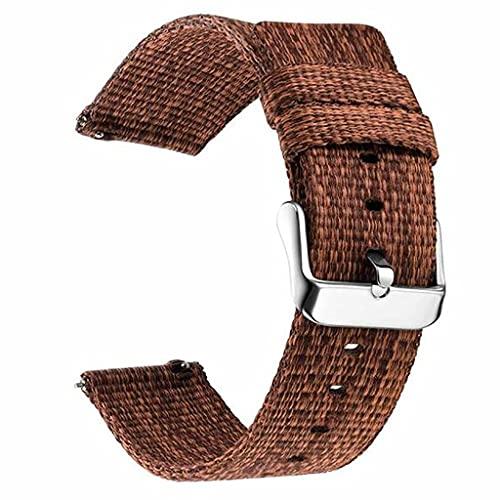 gujiu Correas de Reloj de liberación rápida de Lienzo 18 mm 20 mm 22 mm 24 mm Reloj de Reloj de Nylon para Sturdy Banda de Reloj de reemplazo Transpirable (Band Color : 4, Band Width : 22mm)