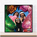 ASLKUYT Flatbush Zombies Vacation in Hell Poster Album Music Cover Poster Stampa su Tela Home Decor Wall Art -24x24 in No Frame