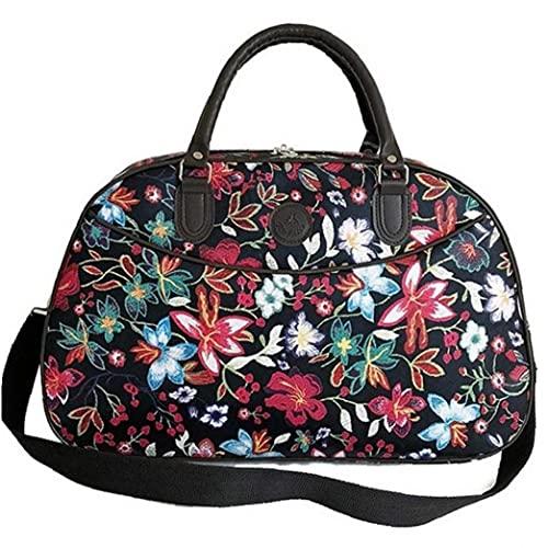 Onsinic Borse 1pc Donne di Viaggio Handbags Portable Fitness Mano Floreale Duffel Bag Weekend Impermeabile per Lady