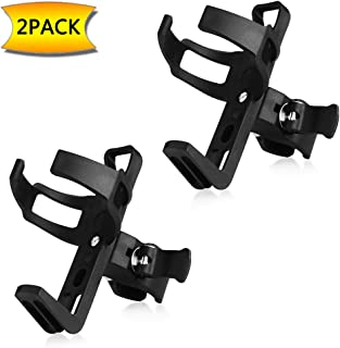 Accmor Bike Water Bottle Holder No Screws, Bike Cup Holder, 360 Degree Rotating Bike Water Bottle Cage, Drink Holder for MTB Bike Stroller Motorcycle,2 Pack