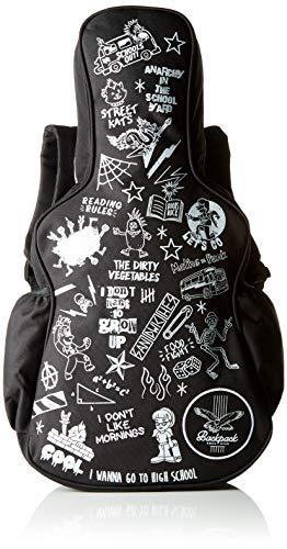 SUCK UK Mini Rucksack für Jungen & Mädchen Mochila infantil, 54 cm, Negro (Black/ White)