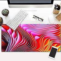 マウスパッド赤塗装拡張大型サイズマウスパッド滑り止めゴムベース流出耐性とほつれ防止ステッチエッジキーボード800X300Mm