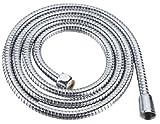 Benefit 32203 - Tubo flessibile per doccia, in acciaio INOX, 1/2', lunghezza 120 cm