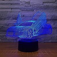 マルチチョイスクールスポーツカーオート3Dナイトライトノベルティ7色交換Ledデスクテーブルランプ3Dイリュージョンランプ用男の子ギフト