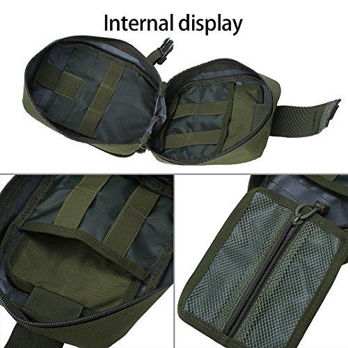 Outdoor Erste-Hilfe-Tasche Notfalltasche Medzinische Hilfe für Outdoor Aktivitäten wie Camping Radfahren Klettern Wandern ( Farbe : Grün ) - 6