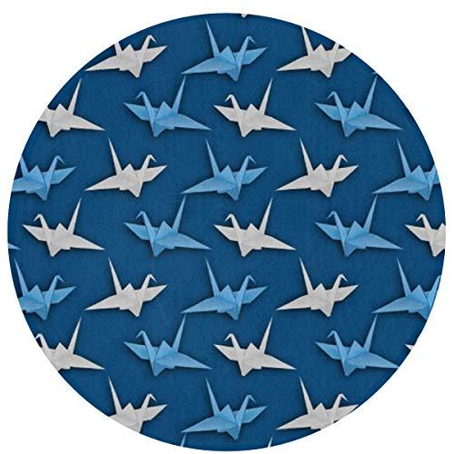 LINFENG Beste Spielmatte Teppich für Kinder Dekorationen & Tipi Zelt Hipster japanischen Origami Crane Cranes Area Rug 23,6 x 15,7 Zoll Runde Matte für BedLiving