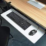 ACXZ Vassoio della Tastiera sotto la scrivania Scorrevole con Morsetto a C, cassetto della Tastiera del Computer con Piattaforma Estraibile, (52 cm × 25 cm, 65 cm × 25 cm, 75 cm × 25 cm)