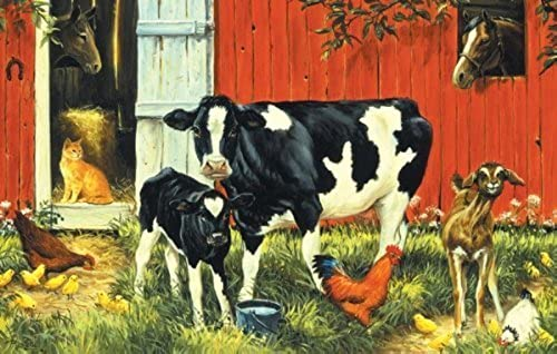 compras online de deportes Down on the Farm a 100-Piece Jigsaw Puzzle by by by Sunsout Inc. by SunsOut  oferta especial