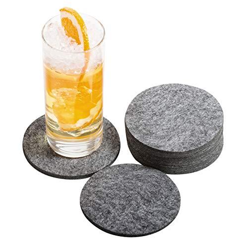 atumboso Untersetzer für Gläser   8 Stück   Glasuntersetzer - Filzuntersetzer - Tassenuntersetzer   Grau meliert
