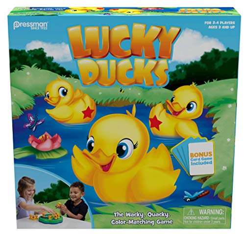 Lucky Ducks  The Memory and Matching Game That Moves  Includes A Fun Pop The Pig MakeAMatch Card Game