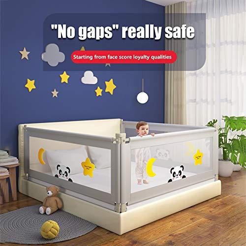 TOPQSC Barrera Cama niño, Barandilla Cama niños Abatible, Anticaidas Infantil, barandilla de la cama para bebés Protectores para cunas y camas de bebé Barrera de cama portátil Tamaño gigante (200cm)