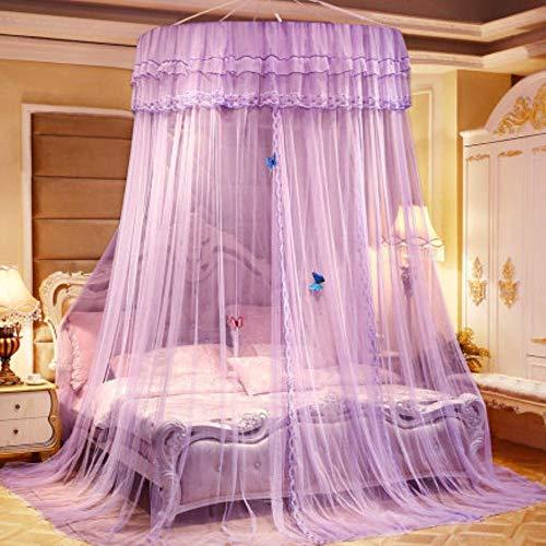 Piner Zomer Kinderen Kid Beddengoed Klamboe Romantisch Babymeisje Rond Bed Klamboe Bed Cover Bed Luifel Voor kinderkamer, H, 1,35 m (4,5 voet) bed