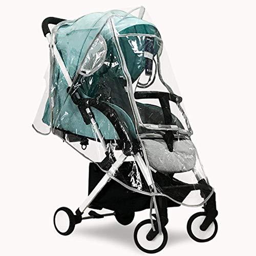 Xirfuni Protector de Clima para Cochecito, Protector de Clima, Resistente al Agua para protección de bebé(EVA Half-Open Window Rain Cover)