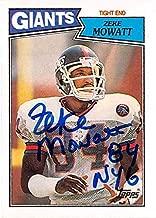 Zeke Mowatt autographed football card (New York Giants) 1987 Topps #18 - NFL Autographed Football Cards