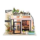 IMPLAY TOYS (インプレイトイズ) ドールハウス 手作りキット セット ミニチュア 3Dパズル ミニチュア DIY おもちゃ ガーデン 知育玩具 LED付き (ミュージックスタジオ)