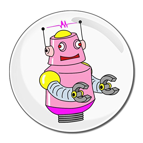 White Girl Robot - Miroir compact rond de 55 mm