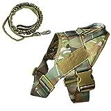 K9 - Arnés táctico para perro militar, chaleco de entrenamiento Molle ajustable, arnés K9 con asa, diseño de camuflaje, talla L
