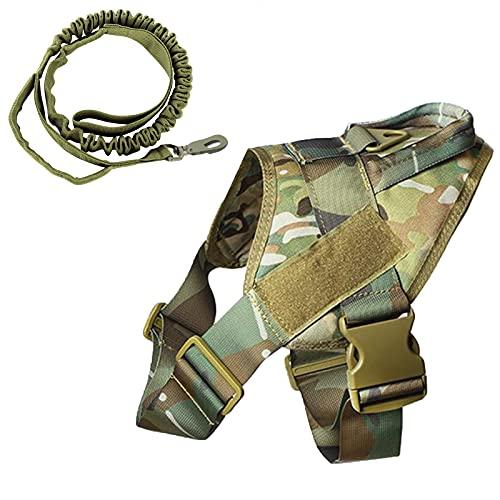 K9 - Arnés táctico para perro militar, chaleco de entrenamiento Molle ajustable, arnés K9 con mango (camuflaje, S)
