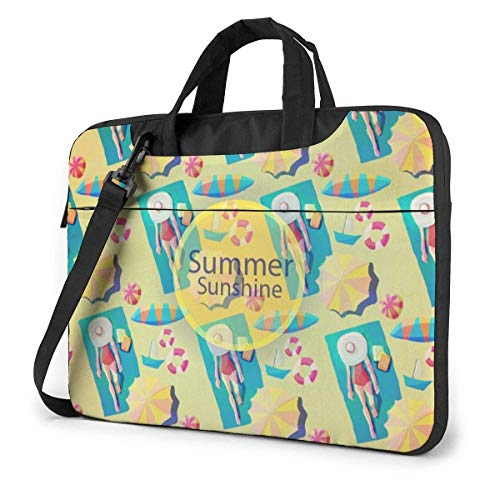 Portable Laptop Bag Sleeve Briefcase Summer Sunshine Laptop Sleeve Case 15.6 Inch Computer Tote Bag Shoulder Messenger Briefcase