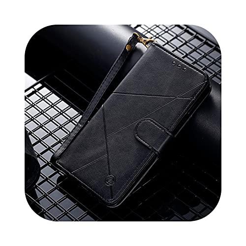 Henraly - Custodia a libro in pelle per Samsung Galaxy S8 S9 Plus S10 S20 Fe S21 Ulta S7 Edge Note 8 9 10 Lite-Black-for A3 2017 A320