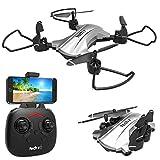 tech rc Drone con Telecamera HD 720P Drone Pieghevole WiFi FPV Drone Professionale Quadricottero...